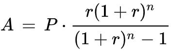 emi calculator formula