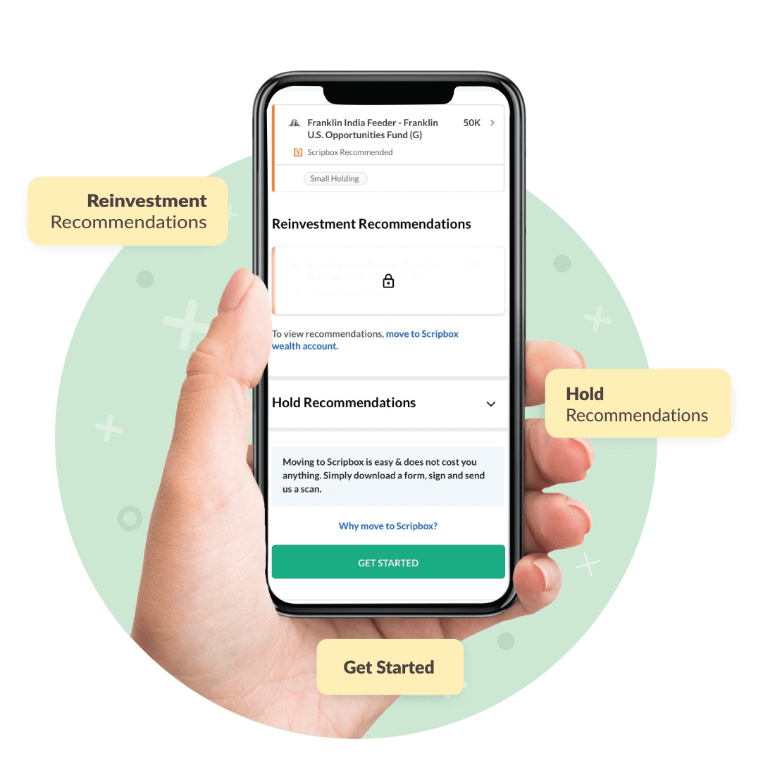 Scripbox mobile app showcase